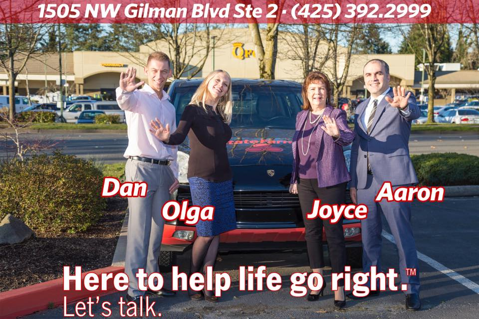Aaron A. Hakobian, Your Local StateFarm Agent reviews | 1505 NW Gilman Blvd Ste 2 - Issaquah WA